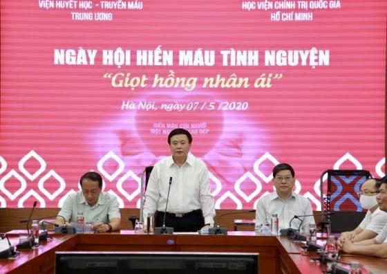 """""""Giọt hồng nhân ái"""" tại Học viện Chính trị quốc gia Hồ Chí Minh"""