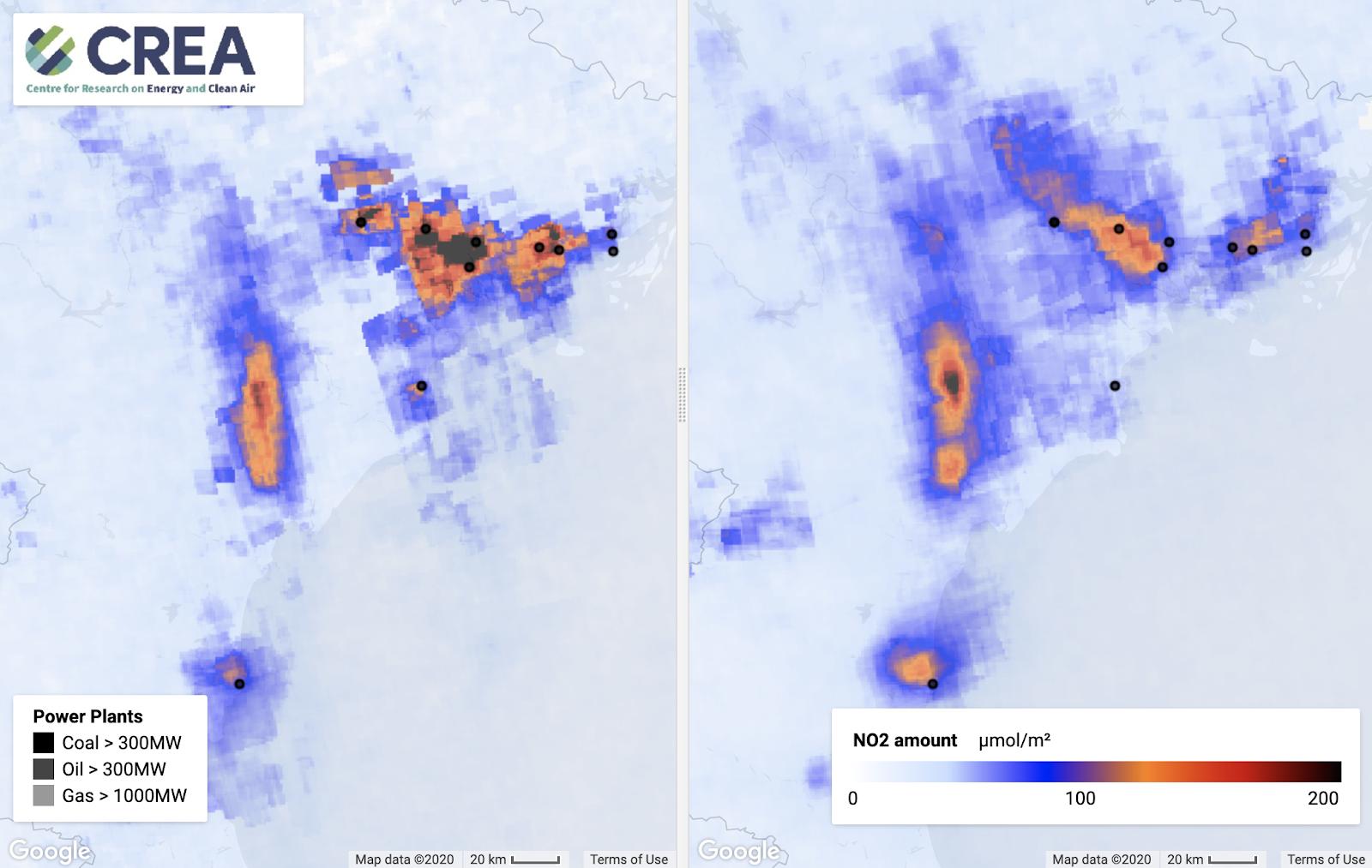 Tác động mạnh mẽ của việc phong tỏa đối với chất lượng không khí ở châu Á