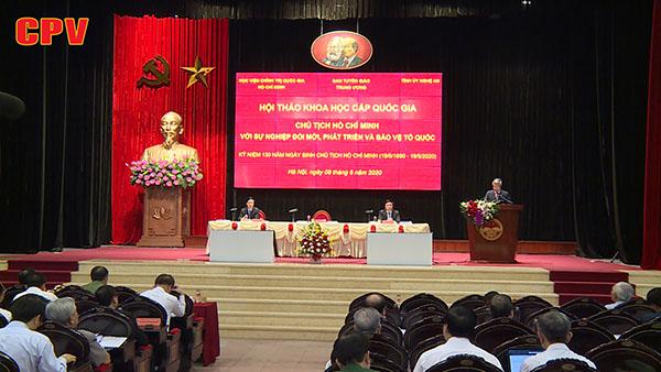 Phát huy tư tưởng Hồ Chí Minh trong sự nghiệp đổi mới, phát triển và bảo vệ Tổ quốc