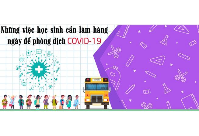 Infographics Những điều học sinh cần làm để phòng dịch COVID-19