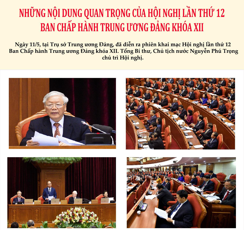 [Infographic] Những nội dung quan trọng của Hội nghị Trung ương lần thứ 12