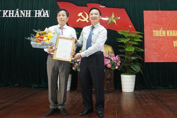 Đồng chí Hà Quốc Trị giữ chức Phó Bí thư Tỉnh ủy Khánh Hòa