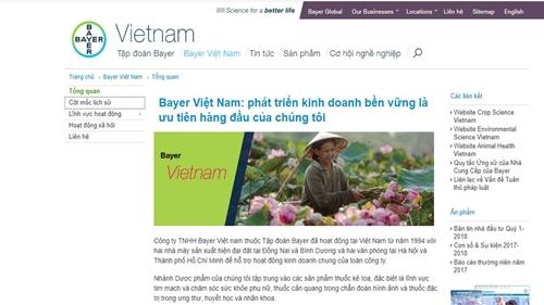 Công ty Bayer Việt Nam cần tuân thủ đầy đủ các quy định của pháp luật Việt Nam
