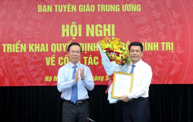Ban Tuyên giáo Trung ương triển khai quyết định của Bộ Chính trị về công tác cán bộ