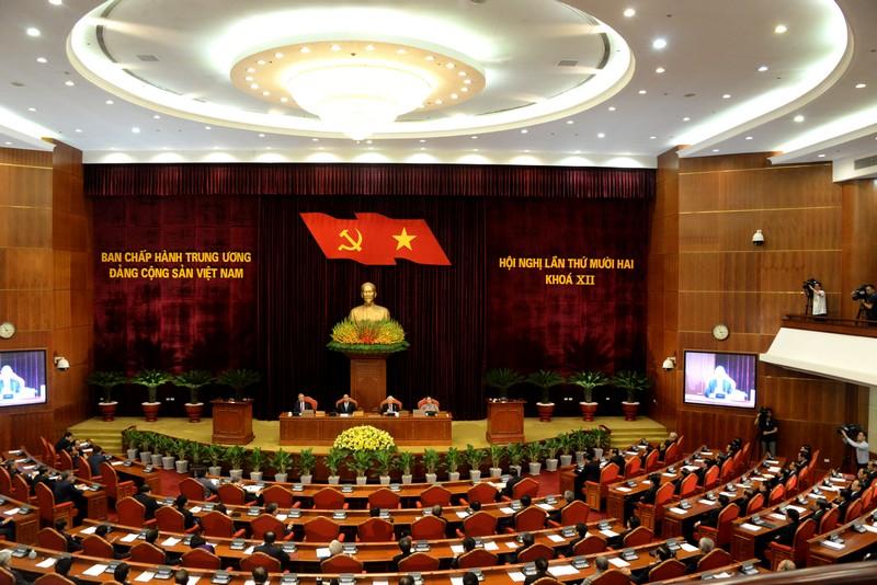 Bế mạc Hội nghị Trung ương Đảng lần thứ 12 khóa XII