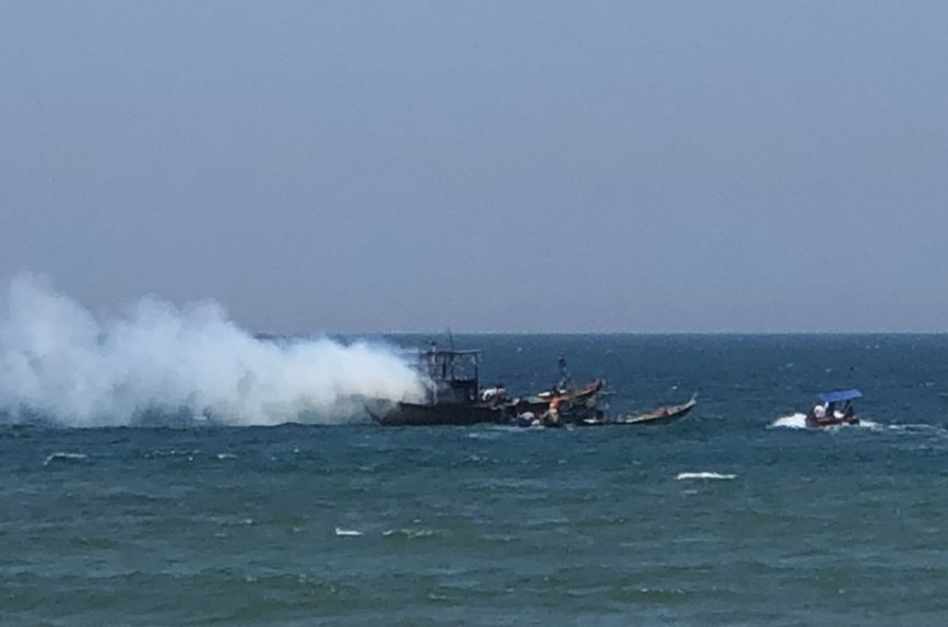 Quảng Nam kịp thời dập tắt vụ cháy trên tàu cá của ngư dân