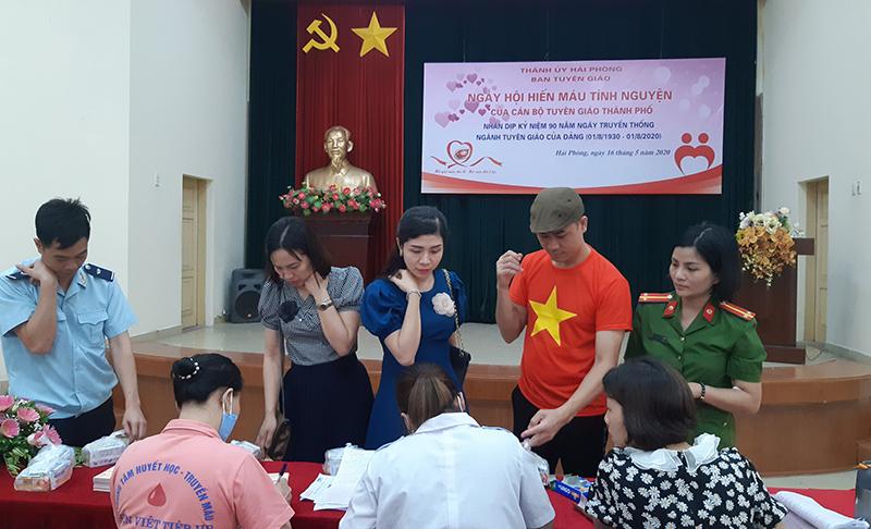 Ngày hội hiến máu tình nguyện của ngành Tuyên giáo Hải Phòng