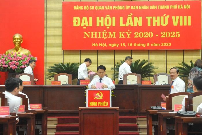 Đại hội Đảng bộ Cơ quan Văn phòng UBND TP Hà Nội, nhiệm kỳ 2020 - 2025