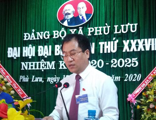 Đại hội Đại biểu Đảng bộ xã Phù Lưu Mục tiêu đến năm 2024 đạt xã chuẩn nông thôn mới nâng cao