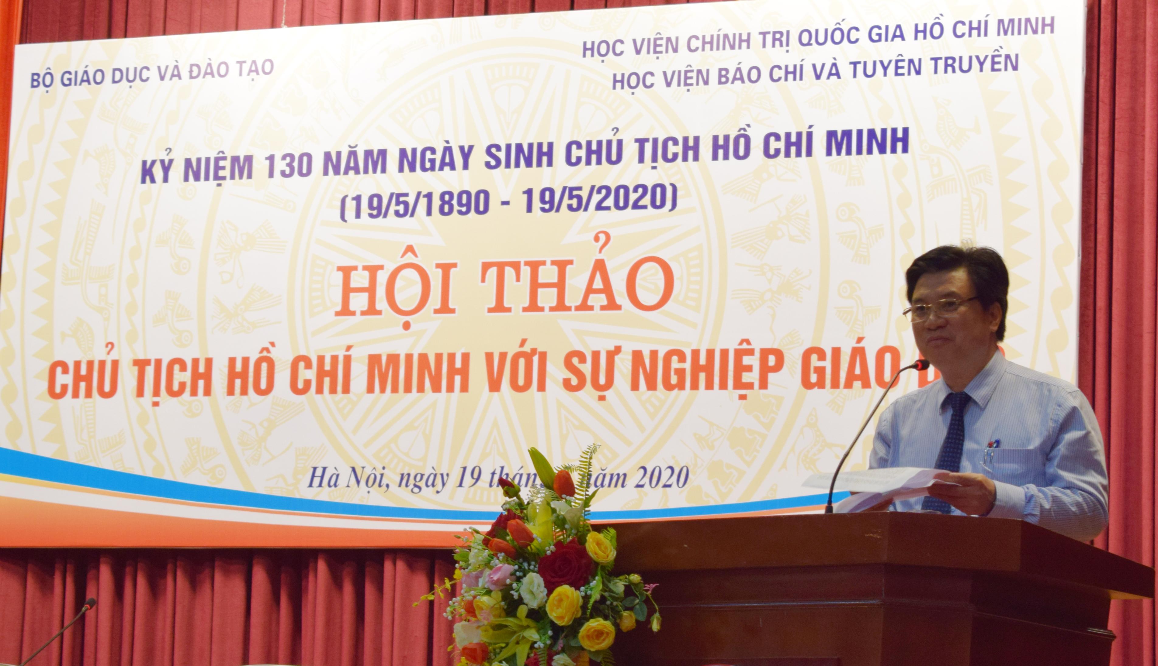 Vận dụng sáng tạo tư tưởng của Hồ Chí Minh về giáo dục