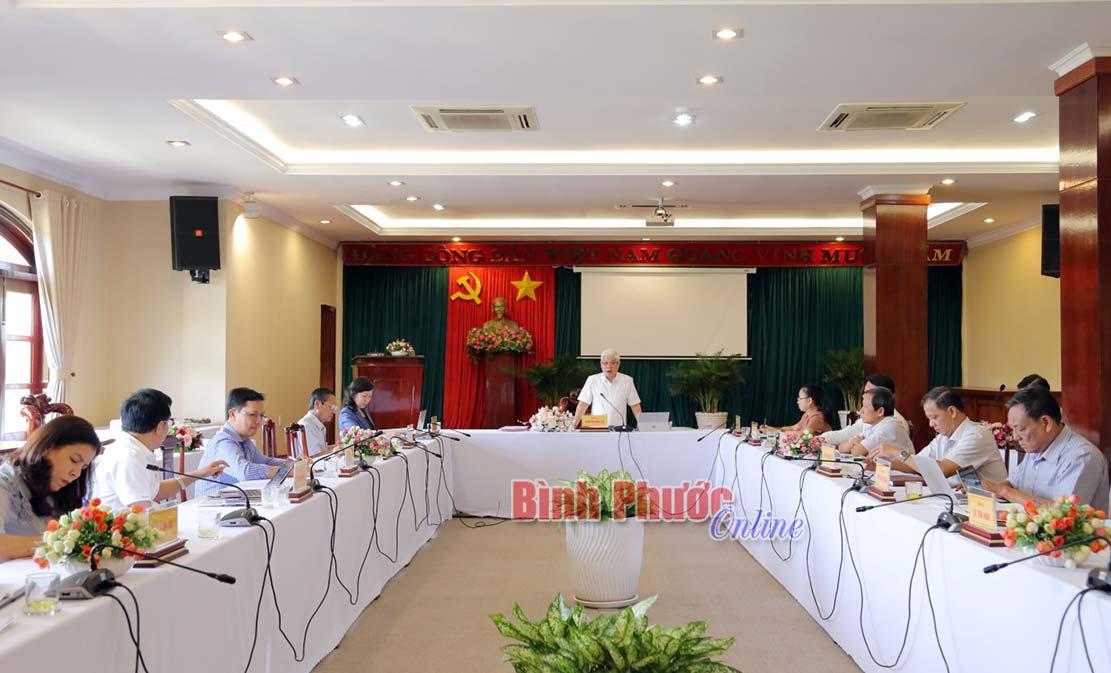 Bình Phước Thông qua dự thảo văn kiện Đại hội Đảng bộ huyện Hớn Quản