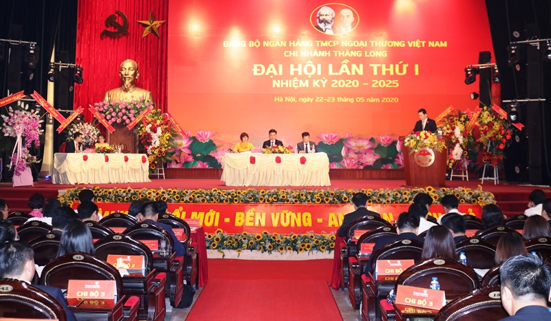 Đảng bộ Vietcombank Chi nhánh Thăng Long Đại hội điểm bầu trực tiếp Bí thư