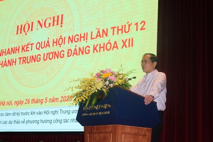 Đảng bộ Bộ Ngoại giao thông báo nhanh kết quả Hội nghị Trung ương lần thứ 12
