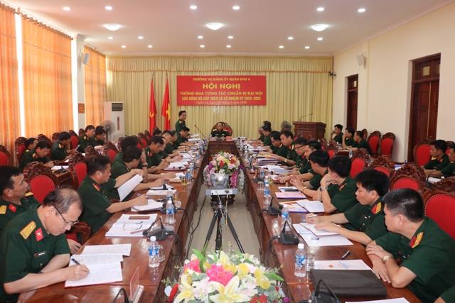 Quân khu 4 chuẩn bị Đại hội các đảng bộ trực thuộc