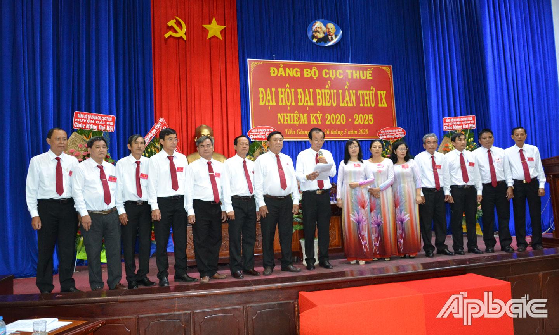 Đồng chí Cao Văn Tạo được bầu giữ chức Bí thư Đảng ủy Cục Thuế tỉnh Tiền Giang