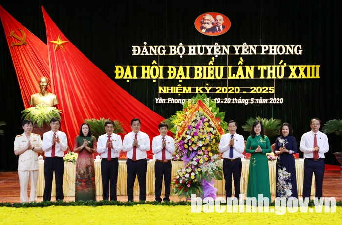 Đại hội Đảng bộ huyện Yên Phong - Tỉnh Bắc Ninh
