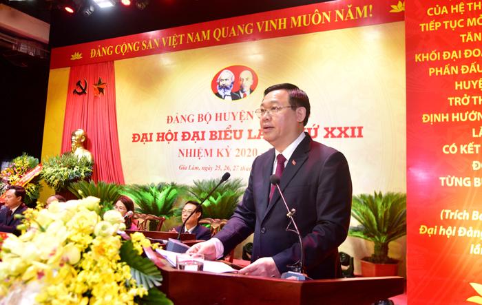 Đoàn kết, trí tuệ, dân chủ và kỷ cương, xây dựng Gia Lâm thành quận vào năm 2025