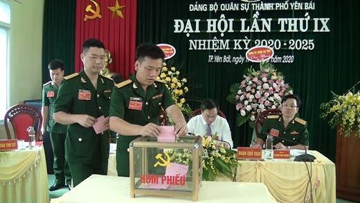 Đại hôi Đảng bộ Quân sự thành phố Yên Bái lần thứ IX, nhiệm kỳ 2020 – 2025