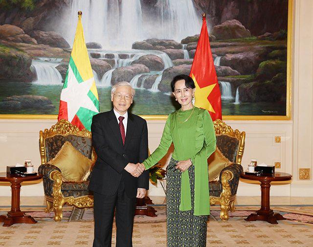 Thư mừng kỷ niệm lần thứ 45 ngày thiết lập quan hệ ngoại giao giữa Việt Nam và Mi-an-ma