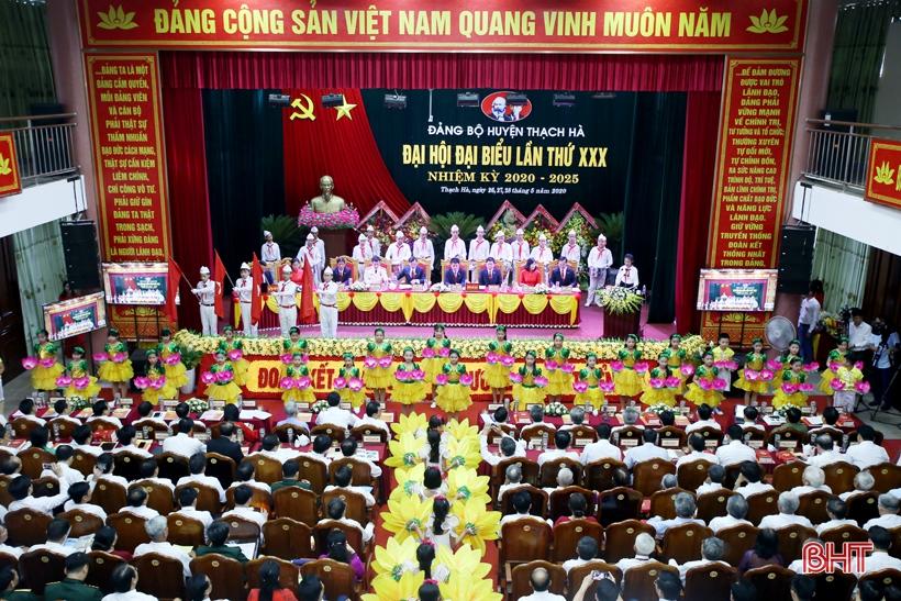 Hà Tĩnh Đảng bộ huyện Thạch Hà tổ chức đại hội điểm
