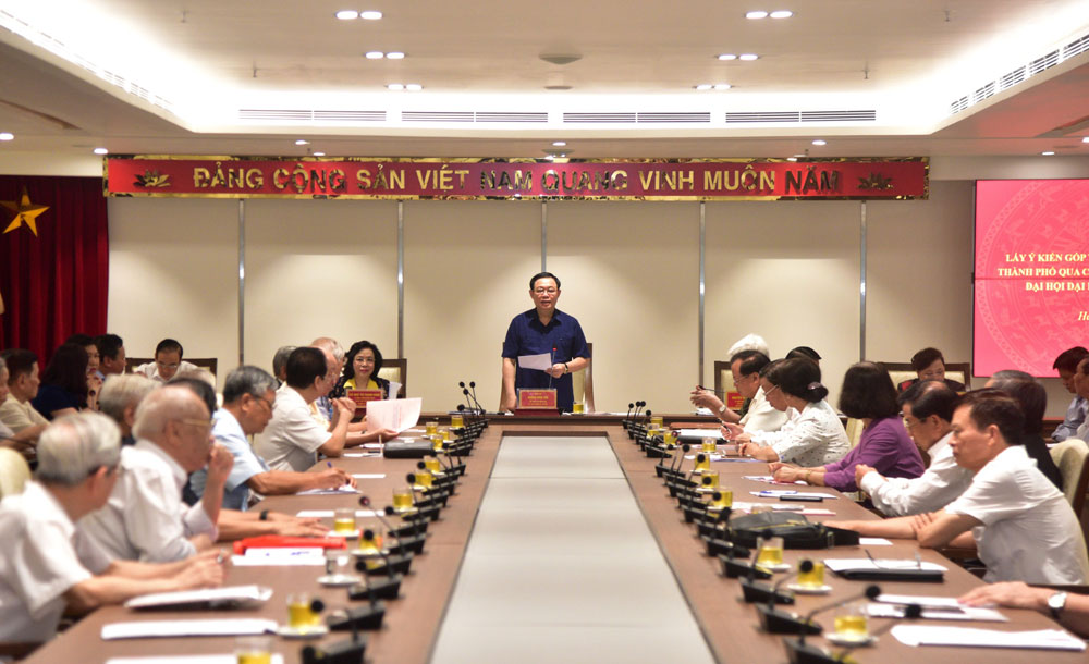 Góp nhiều ý kiến tâm huyết cho Dự thảo Báo cáo chính trị Đảng bộ TP Hà Nội