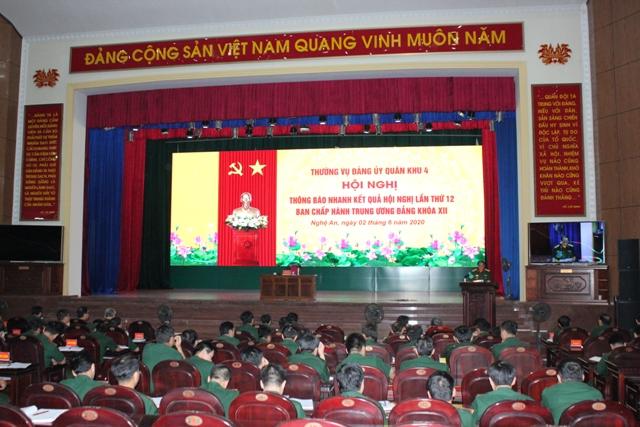 Quân khu 4 thông báo kết quả Hội nghị Trung ương lần thứ 12 khóa XII