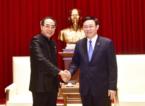 Bí thư Thành ủy Hà Nội Vương Đình Huệ tiếp Đại sứ đặc mệnh toàn quyền Thái Lan