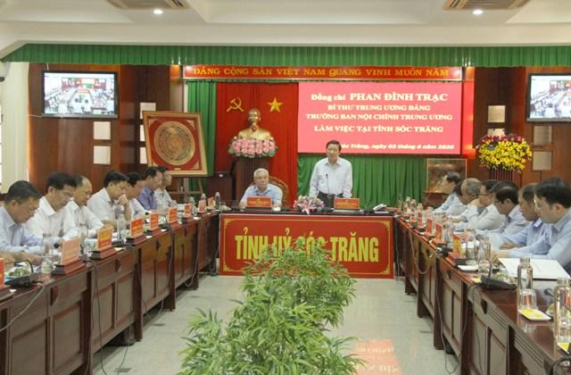 Ban Nội chính Trung ương làm việc với tỉnh Sóc Trăng về kết quả thực hiện Chỉ thị số 35