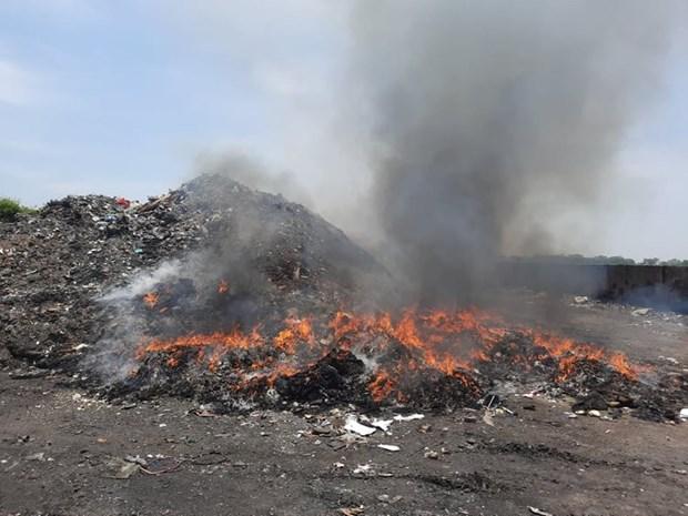 Xử lý dứt điểm tình trạng tập kết, đốt rác thải trên địa bàn tỉnh Vĩnh Phúc