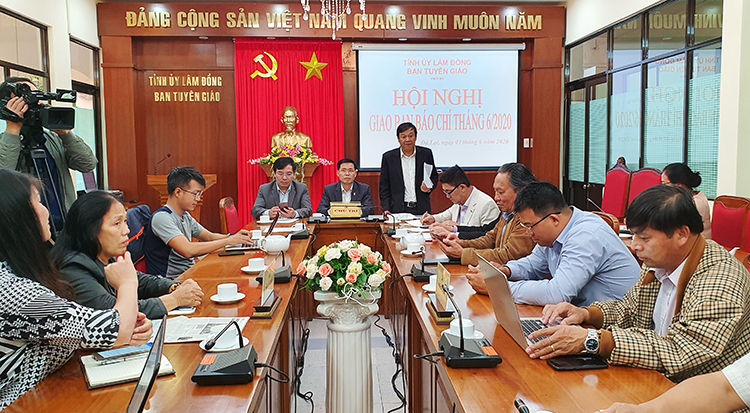 Lâm Đồng Hội nghị giao ban báo chí định kỳ tháng 6