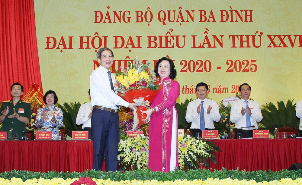 Đồng chí Hoàng Minh Dũng Tiến tái đắc cử Bí thư Quận ủy Ba Đình nhiệm kỳ 2020-2025