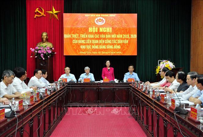 Hội nghị triển khai các văn bản mới của Đảng về công tác dân vận khu vực Đồng bằng sông Hồng