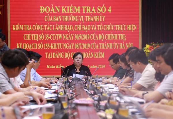 Hà Nội Kiểm tra công tác tổ chức đại hội đảng tại một số đơn vị