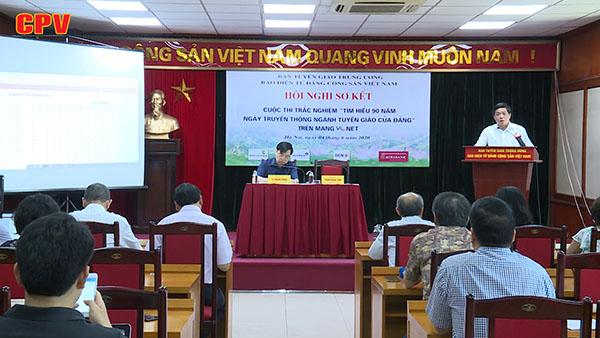 Sơ kết cuộc thi Tìm hiểu 90 năm Ngày truyền thống Ngành Tuyên giáo của Đảng