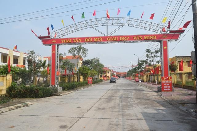 Huyện Nam Sách, tỉnh Hải Dương đạt chuẩn nông thôn mới