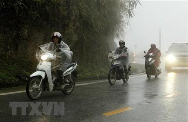 Vùng núi và trung du Bắc Bộ có mưa vừa, mưa to