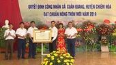 Tuyên Quang Một xã được công nhận nông thôn mới với vốn ban đầu chỉ có 1 19 tiêu chí