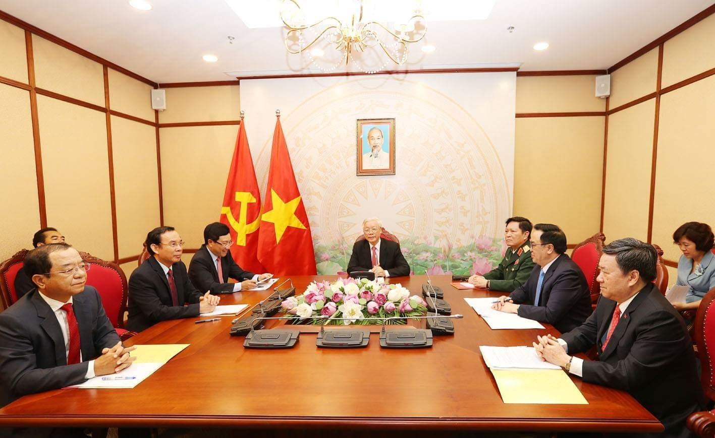 Điện đàm giữa Tổng Bí thư, Chủ tịch nước Nguyễn Phú Trọng và Tổng thống Liên bang Nga V V Pu-tin