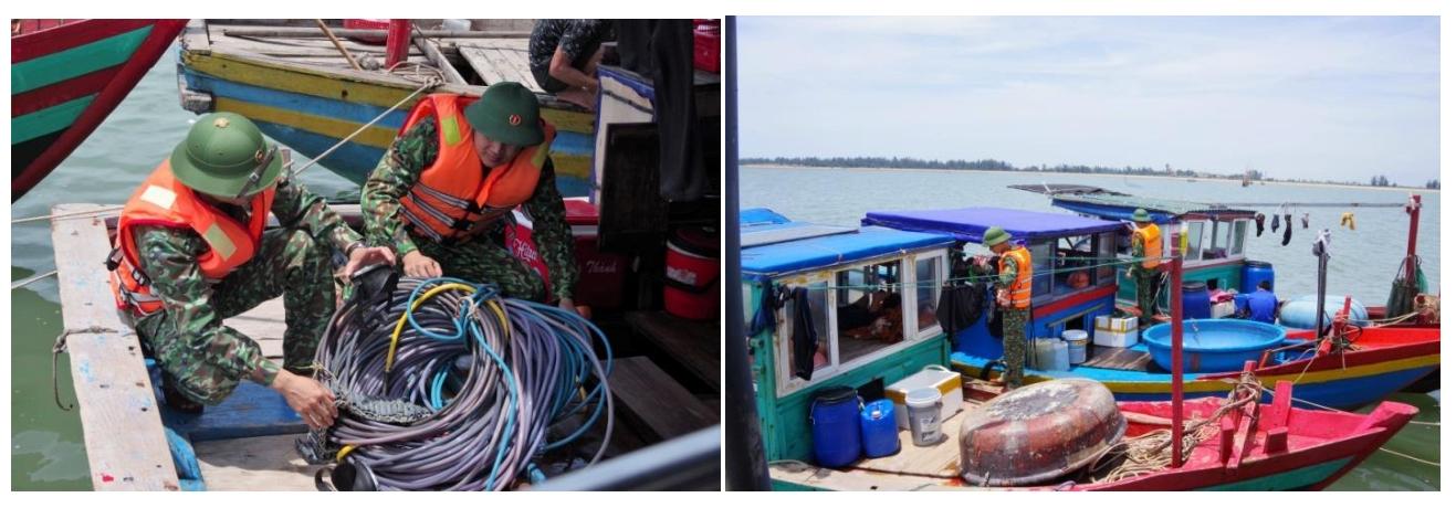 Xử lý 11 phương tiện khai thác thủy sản trái phép