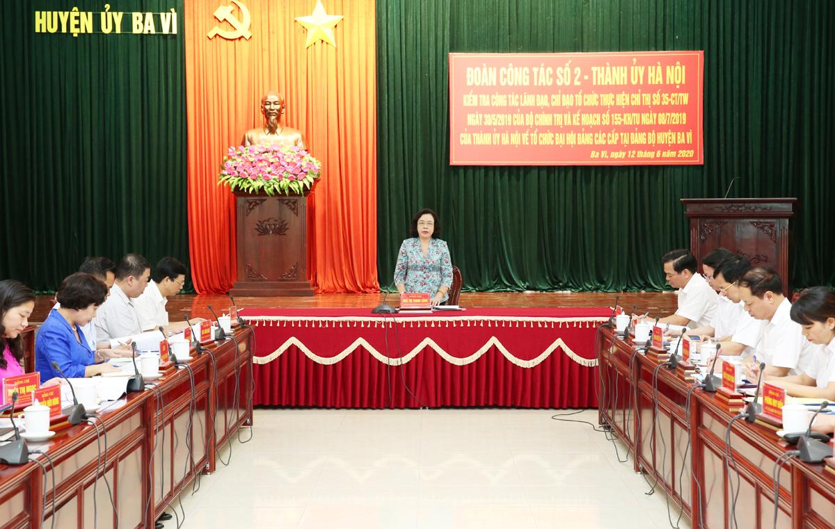 Ba Vì Hà Nội  Nhân sự cấp ủy khóa mới đảm bảo sự lãnh đạo toàn diện