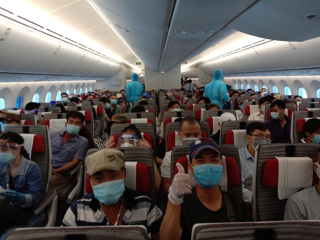 Đưa 266 công dân Việt Nam từ Kuwait, Qatar và Ai Cập về nước