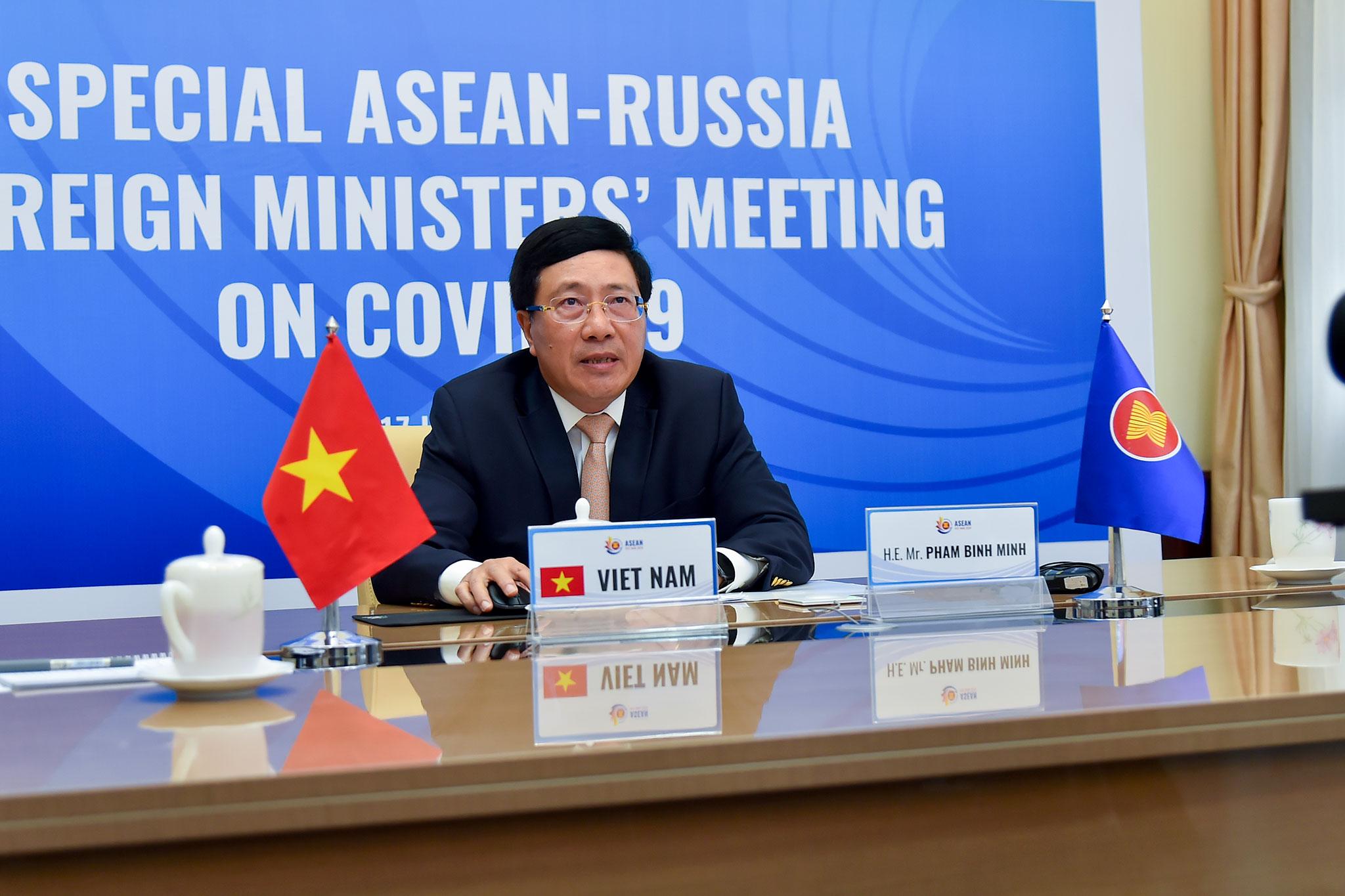 ASEAN-Nga tăng cường ứng phó dịch bệnh COVID-19