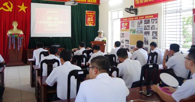 Khai mạc hội thi cán bộ giảng dạy chính trị Lữ đoàn 161 Hải quân
