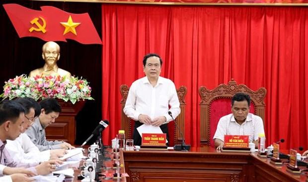 Đoàn công tác Ban Bí thư Trung ương Đảng làm việc với Ban Thường vụ Tỉnh ủy Gia Lai