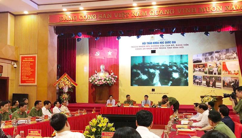 Trách nhiệm nêu gương của cán bộ, đảng viên công an nhân dân trong tình hình mới