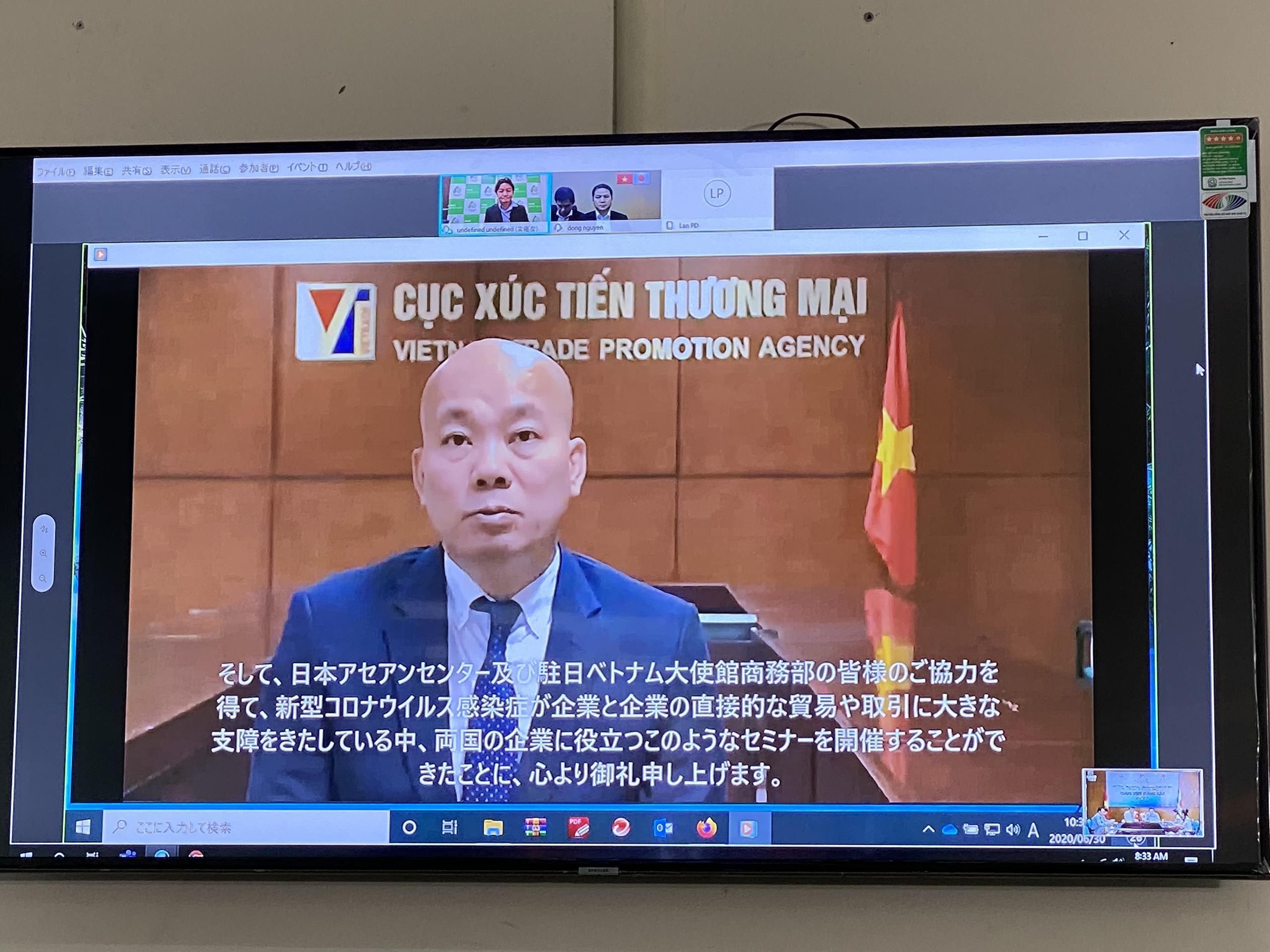 Kết nối trực tuyến doanh nghiệp Việt Nam - Nhật Bản trong lĩnh vực hàng tiêu dùng