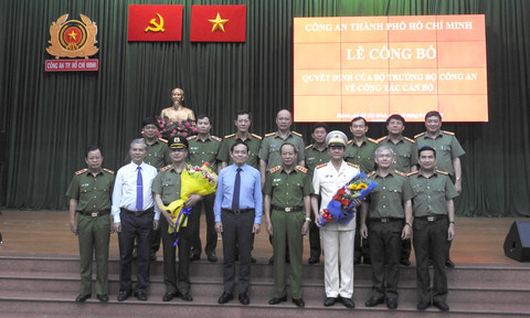 Đại tá Lê Hồng Nam đảm nhiệm chức vụ Giám đốc Công an TP Hồ Chí Minh