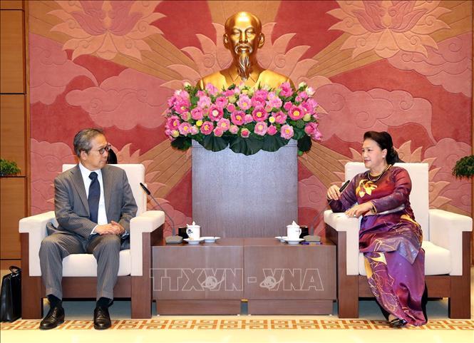 Chủ tịch Quốc hội tiếp Đại sứ Nhật Bản và Campuchia