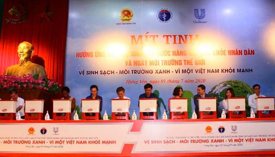 Vệ sinh sạch – Môi trường xanh – Vì một Việt Nam khỏe mạnh