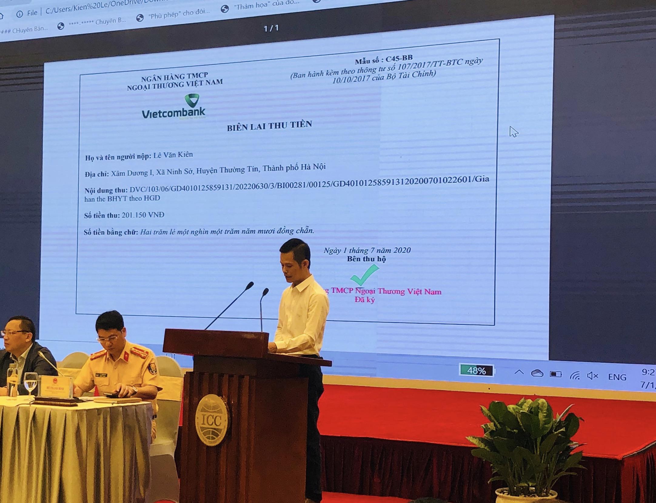 Vietcombank tiên phong cung cấp thanh toán trực tuyến cho một số dịch vụ công